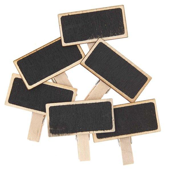 Rico Design Minitafeln mit Klammer 4cm 6 Stück