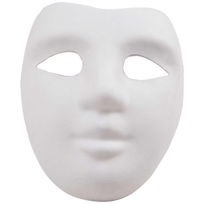 rico design maske gesicht wei 18x22cm g nstig online kaufen. Black Bedroom Furniture Sets. Home Design Ideas
