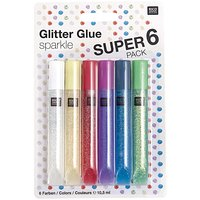 Rico Design Glitter Glue sparkle 6x10,5ml