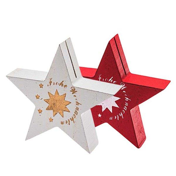 Stern Frohe Weihnachten.Tischkartenhalter Stern Frohe Weihnachten 8 5cm