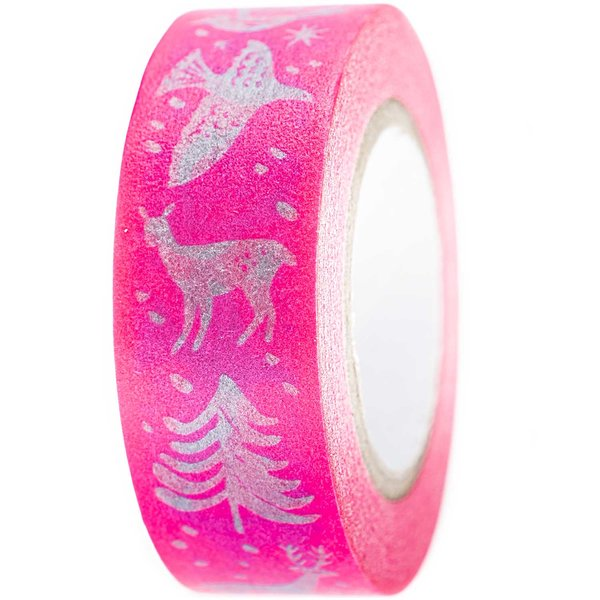 Paper Poetry Tape Nostalgic Christmas pink 1,5cm 10m