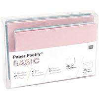 Paper Poetry Basic Kartenset Basic tropical A7/C7 36teilig
