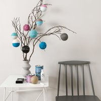 Anleitung Weihnachtskugeln mit Tafelfarbe bemalen
