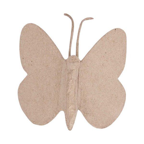 Rico Design Pappmaché Schmetterling klein 8x9x2cm