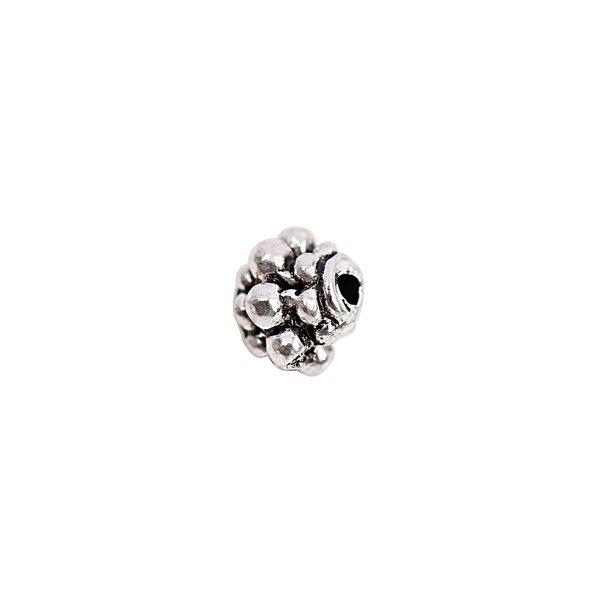 Rico Design Perle Ornament silber 6x6mm 15 Stück