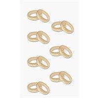 Paper Poetry 3D Sticker goldene Ringe