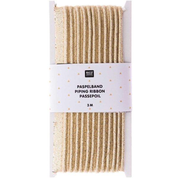 Rico Design Paspelband gold 1cmx3m
