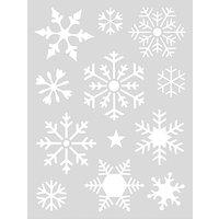 Rico Design Schablone Schneeflocken 18,5x24,5cm selbstklebend
