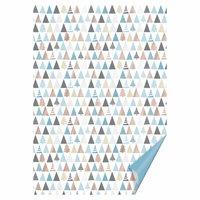 HEYDA Bastelkarton Tannen blau-roségold 50x70cm 300g/m² Hot Foil