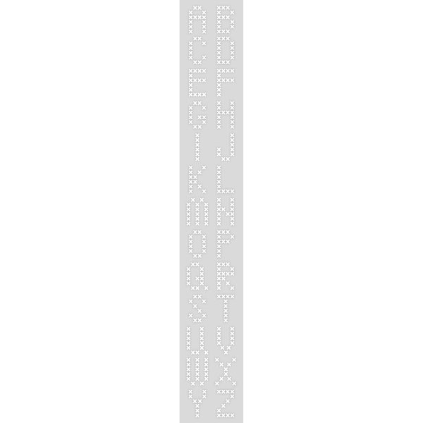 Rico Design Schablone Stickbuchstaben 10,5x70cm selbstklebend