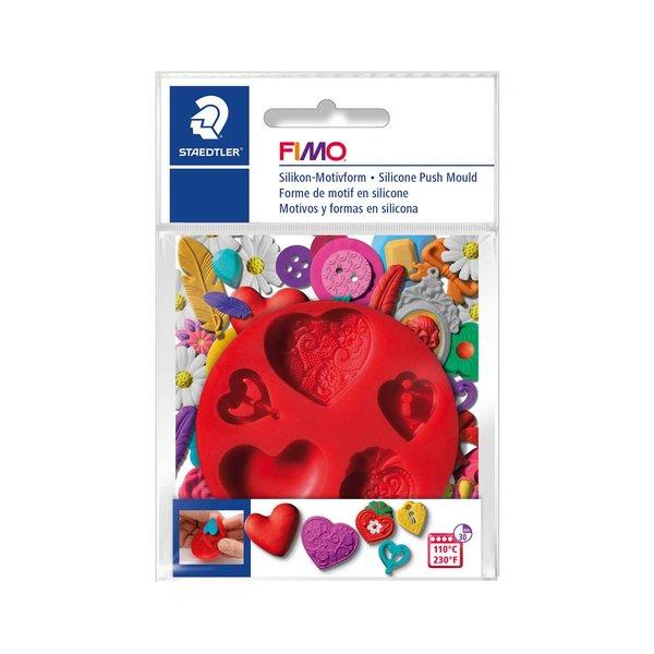 FIMO Motivform Silikon Herzen