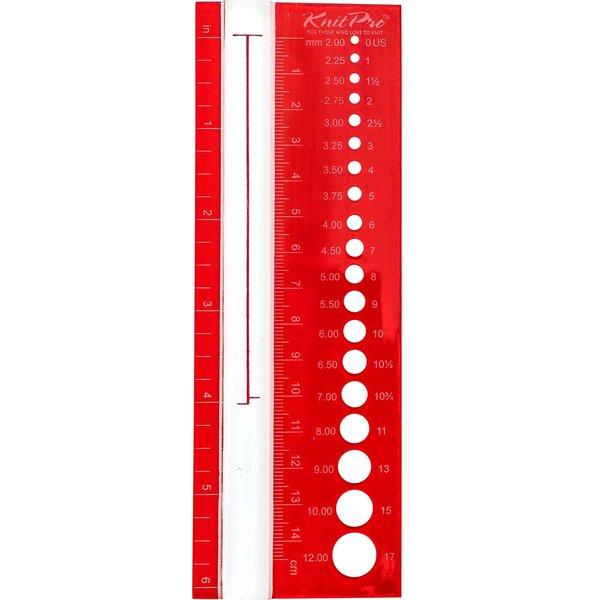 KnitPro Größenmaß mit Lupe bis 15cm