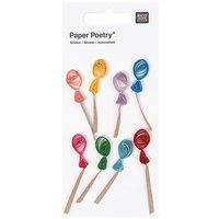 Paper Poetry Quilling Sticker Luftballons
