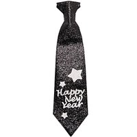 YEY! Let's Party Krawatte Happy New Year 11x40cm