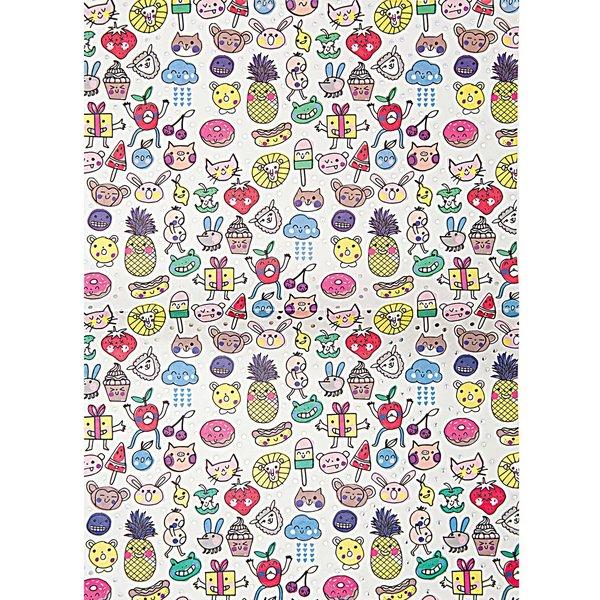 Rico Design SB Paper Patch Papier Kwai mehrfarbig 30x42cm 3 Bogen