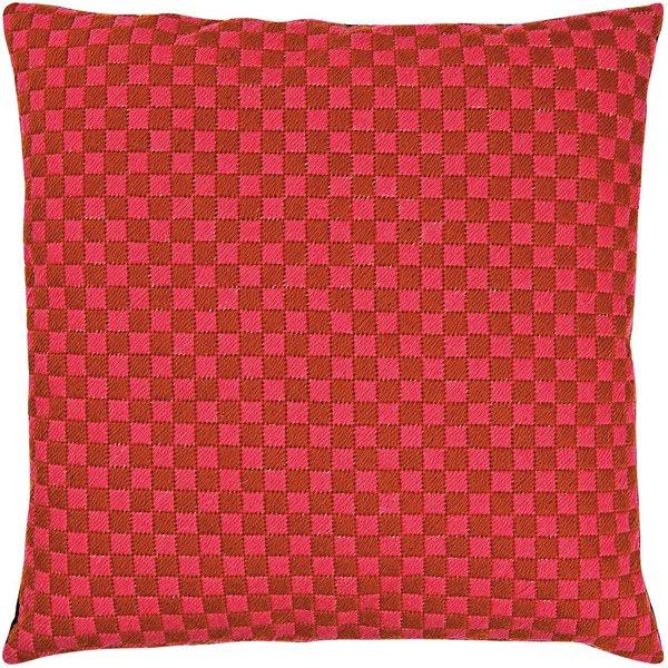 Rico Design Gobelin Kissen Quadrate pink-braun 40x40cm zum Sticken