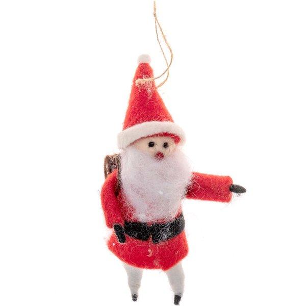 Filz-Weihnachtsmann zum Hängen rot 16cm