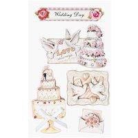 Paper Poetry Maxi 3D Sticker Hochzeit mit Torte