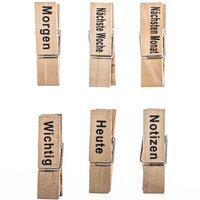 Holzklammern Planer natur 4,5cm 12 Stück