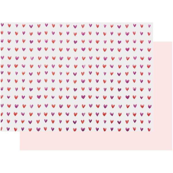 Paper Poetry Motivkarton Herzen aquarell 50x70cm
