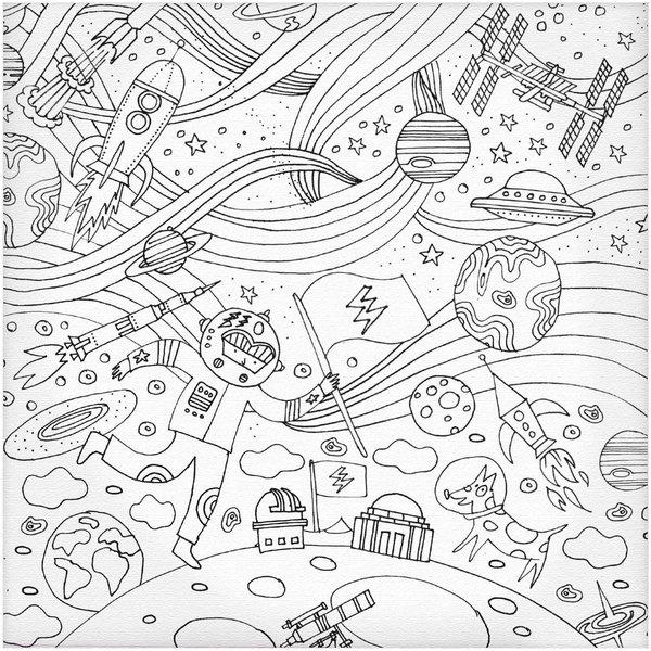 Rico Design Keilrahmen Astronaut Zum Ausmalen 20x20cm