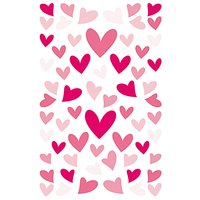Paper Poetry Sticker Herzen verformt pink 10x19cm