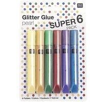Rico Design Glitter Glue pearl 6x10,5ml