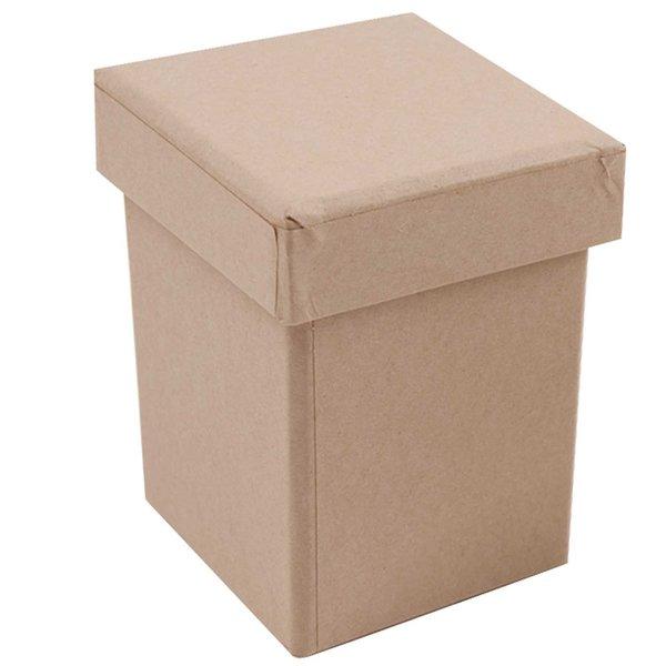 Rico Design Quadratbox hoch natur 7,5x7,5x10cm