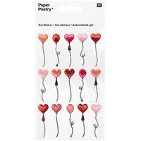 Paper Poetry Gelsticker Herzluftballons