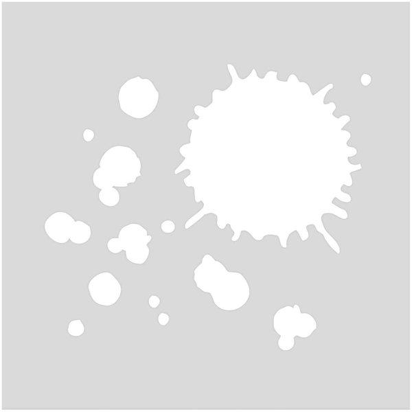 Rico Design Schablone Klekse 7,5x7,5cm selbstklebend
