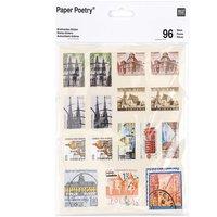 Paper Poetry Sticker Briefmarken I 15x15cm 96 Stück