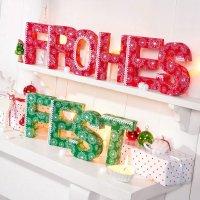 Anleitung Pappbuchstaben weihnachtlich gestalten