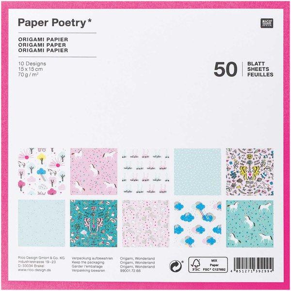 Origami Blaetter , Paper Poetry Origami Papier Wonderland 15x15 Cm 50 Blatt Kaufen ,