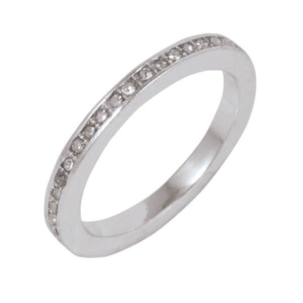 Rico Design Ring Strass weiß 16mm