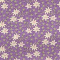 Rico Design Stoff Margeriten violett 50x55cm