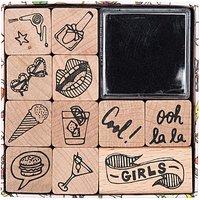 Paper Poetry Stempelset for Girls 11 Stück
