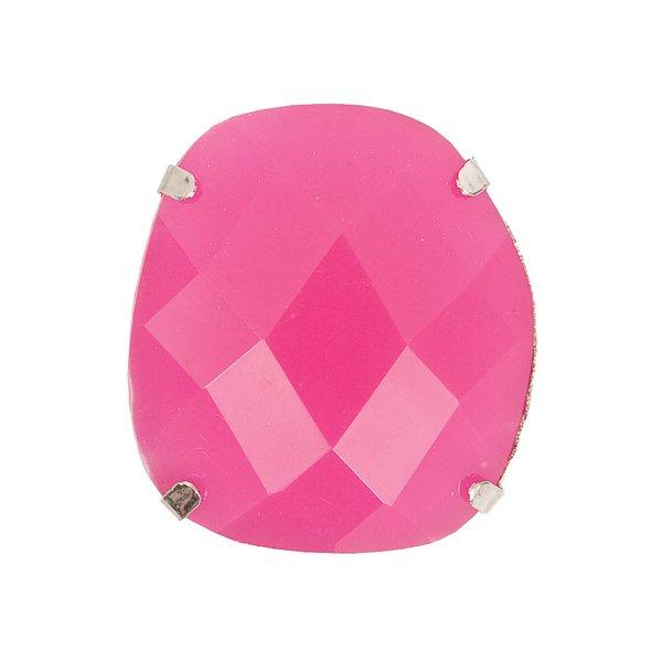 Jewellery Made by Me Aufnähstein gefasst pink 25x28x18mm