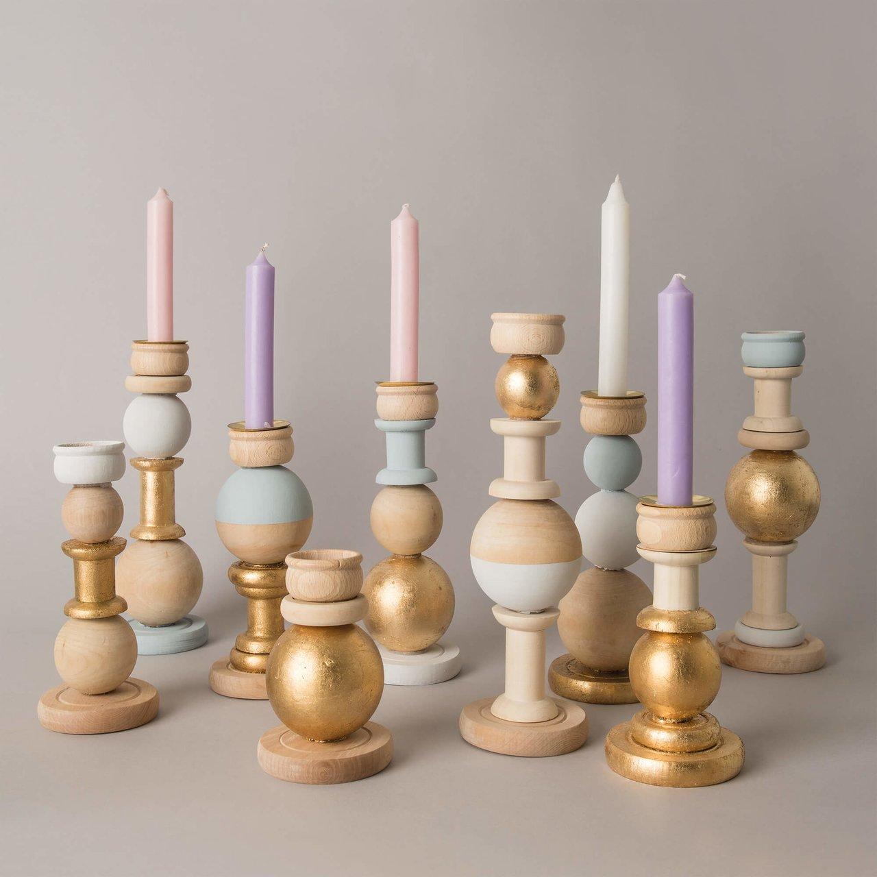 Anleitung Kerzenhalter aus Holz basteln