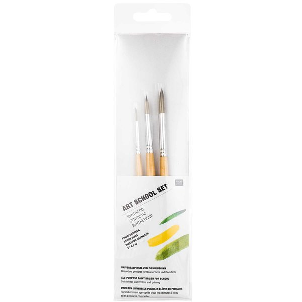 Rico Design Pinsel College Synthetic Set 3teilig