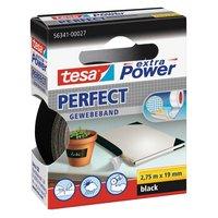 tesa Gewebeband extra Power schwarz 19mm 2,75m