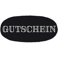 Rico Design Stempel Gutschein oval 7,5x4cm
