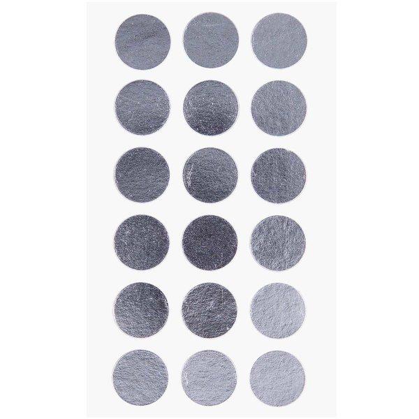 Paper Poetry Sticker Punkte silber 15mm 4 Bogen