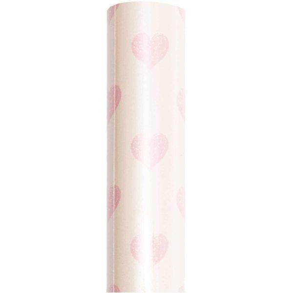 Paper Poetry Geschenkpapier Herzen gelb-rosa 70cm 2m