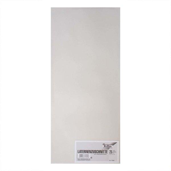 folia Laternenzuschnitte Transparentpapier weiß 22x51cm 25 Bogen