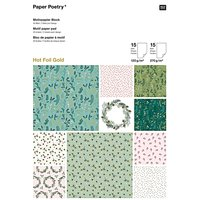 Paper Poetry Motivpapier Block Classical Christmas 21x29,5cm 30 Blatt