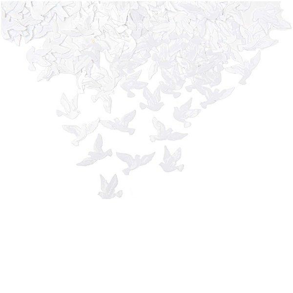 Rico Design Flitter Streu Tauben weiß 9g