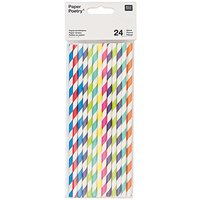 Paper Poetry Papierstrohhalme mehrfarbig mix 24 Stück