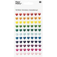Paper Poetry Sticker Herzen mehrfarbig klein