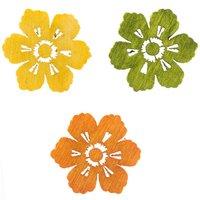 Streu Blüten Mix 2cm Holz 24 Stück