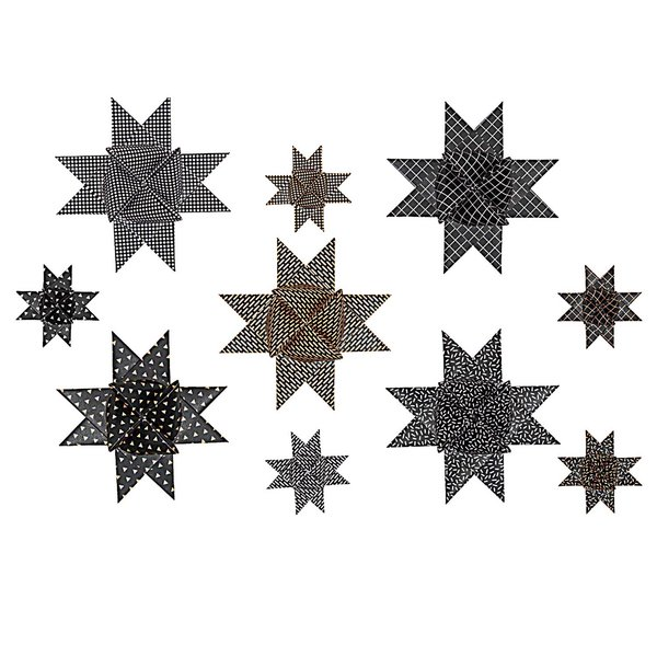 Paper Poetry Fröbelstreifen Graphic schwarz-metallic 40 Stück